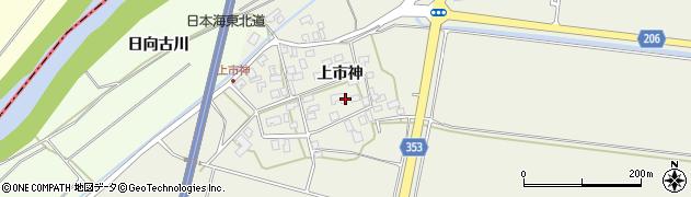 山形県酒田市穂積上市神80周辺の地図