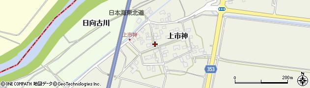 山形県酒田市穂積上市神57周辺の地図