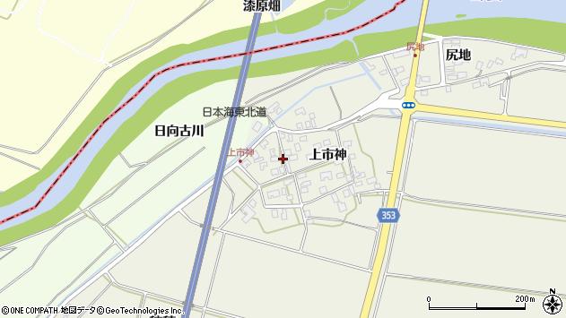 山形県酒田市穂積上市神56周辺の地図