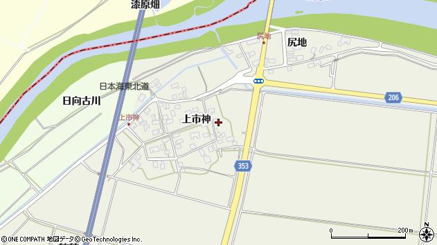 山形県酒田市穂積上市神72周辺の地図