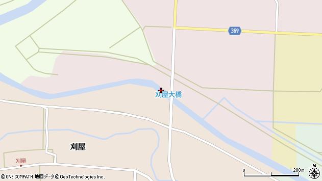 山形県酒田市刈屋北川原周辺の地図