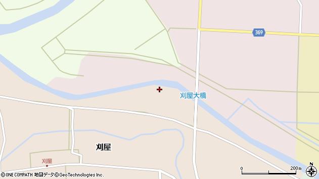 山形県酒田市刈屋中川原周辺の地図