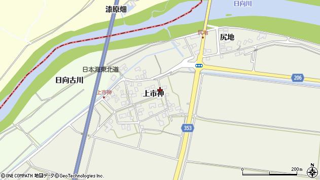 山形県酒田市穂積上市神41周辺の地図