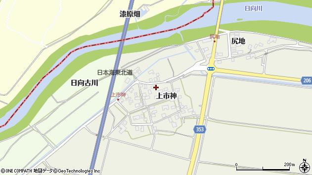 山形県酒田市穂積上市神46周辺の地図