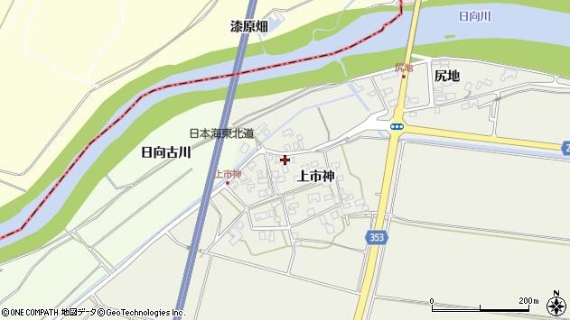 山形県酒田市穂積上市神50周辺の地図