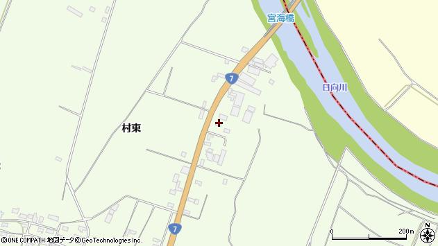 山形県酒田市宮海村東133周辺の地図