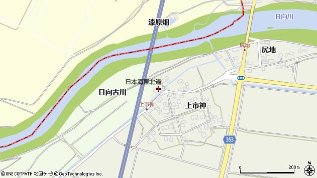 山形県酒田市穂積上市神4周辺の地図