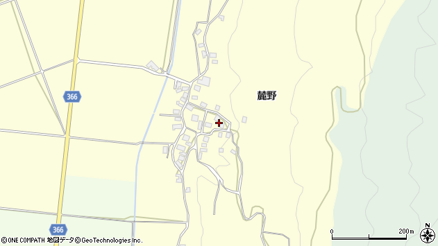 山形県酒田市麓麓野6周辺の地図