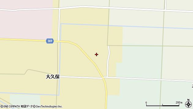 山形県酒田市大久保周辺の地図