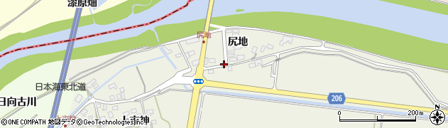 山形県酒田市穂積尻地87周辺の地図
