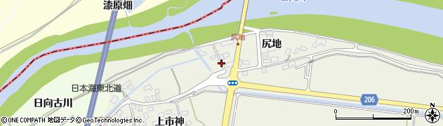 山形県酒田市穂積尻地118周辺の地図