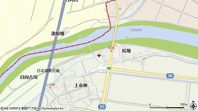 山形県酒田市穂積尻地245周辺の地図