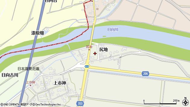山形県酒田市穂積尻地周辺の地図