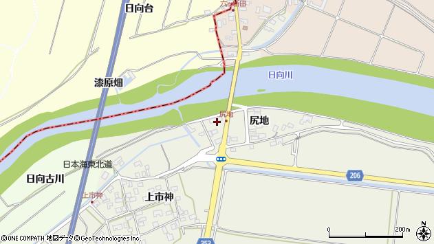 山形県酒田市穂積尻地233周辺の地図
