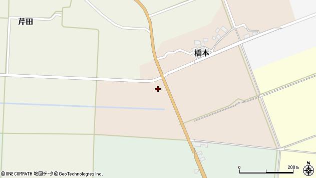 山形県酒田市橋本道下4周辺の地図
