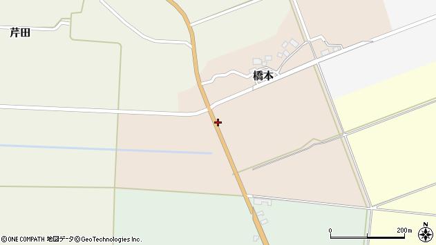 山形県酒田市橋本道下106周辺の地図