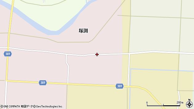 山形県酒田市塚渕広瀬周辺の地図
