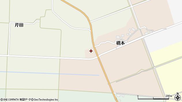山形県酒田市橋本道下103周辺の地図