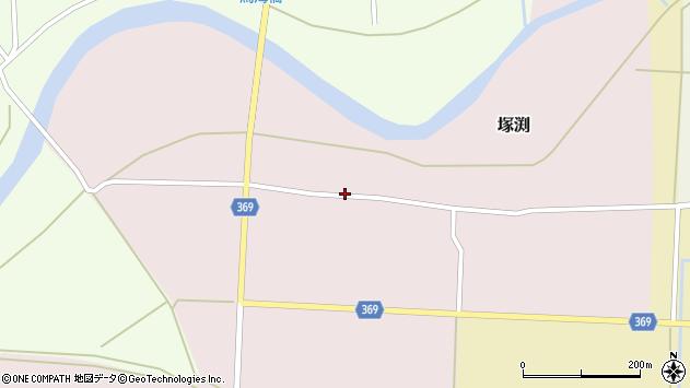 山形県酒田市塚渕周辺の地図