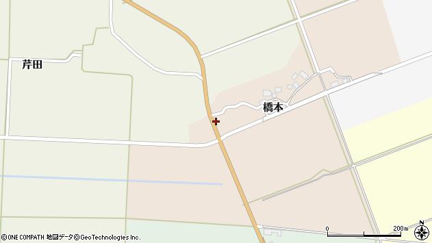 山形県酒田市橋本道下3周辺の地図