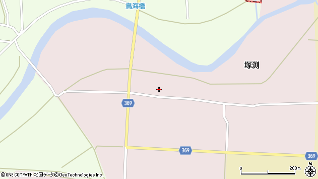 山形県酒田市塚渕清瀬1周辺の地図