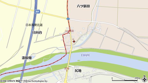 山形県酒田市宮内六ツ新田4周辺の地図