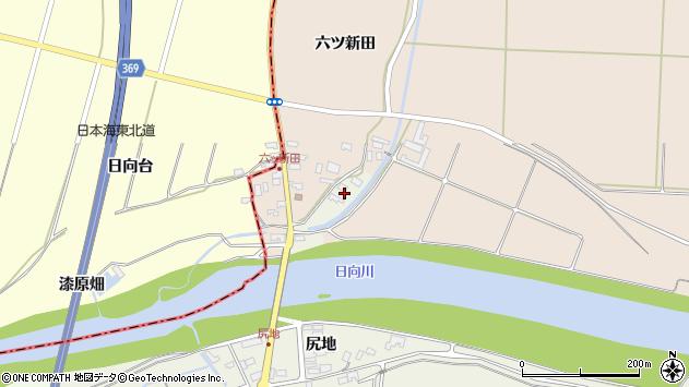 山形県酒田市穂積元屋敷75周辺の地図