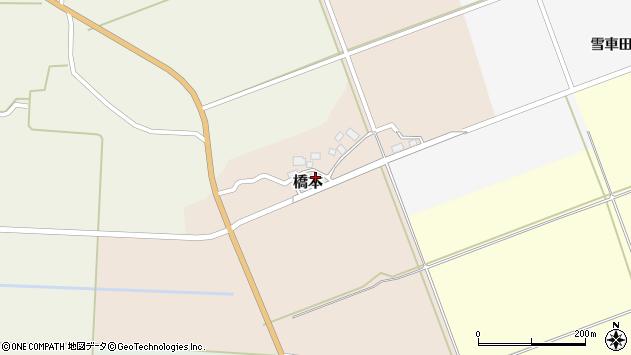 山形県酒田市橋本出シ祢2周辺の地図