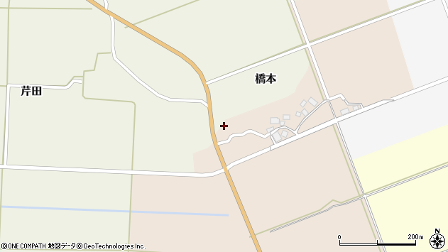 山形県酒田市橋本出シ祢12周辺の地図