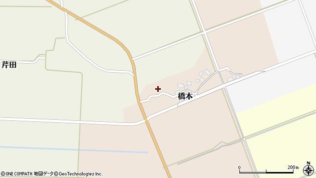 山形県酒田市橋本出シ祢10周辺の地図