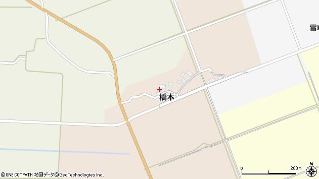 山形県酒田市橋本周辺の地図