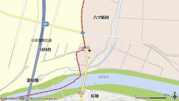 山形県酒田市宮内六ツ新田6周辺の地図