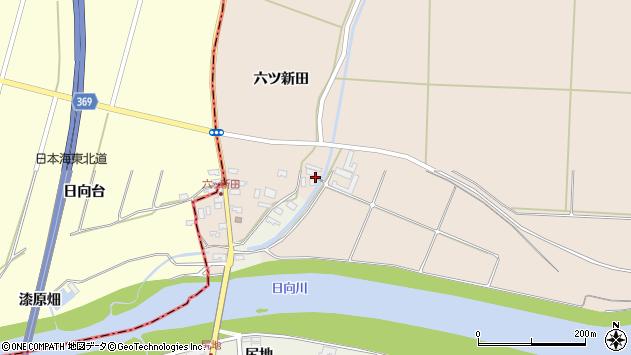 山形県酒田市宮内六ツ新田13周辺の地図