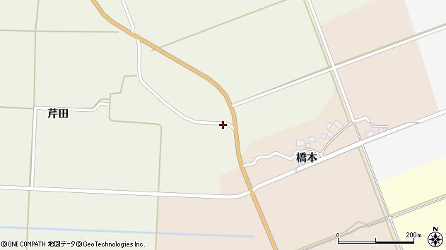 山形県酒田市芹田小口周辺の地図