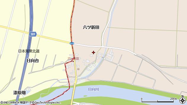 山形県酒田市宮内六ツ新田44周辺の地図