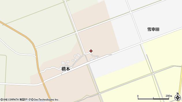 山形県酒田市橋本村上24周辺の地図