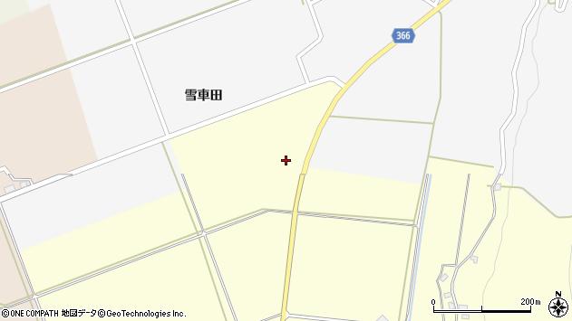 山形県酒田市麓雪車田16周辺の地図