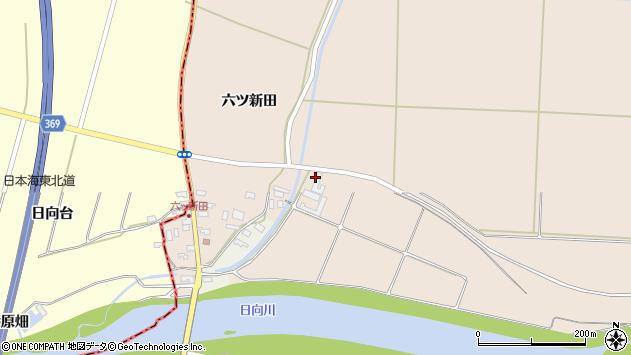 山形県酒田市宮内元屋敷106周辺の地図