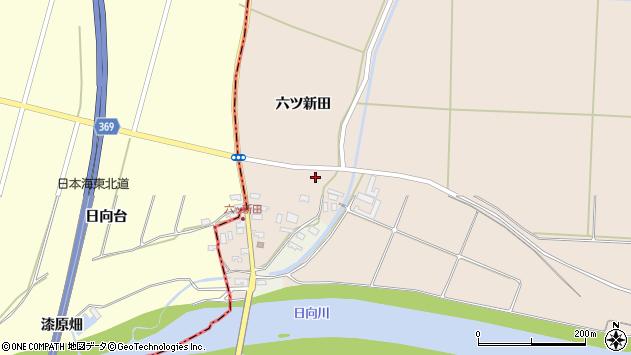 山形県酒田市宮内六ツ新田42周辺の地図