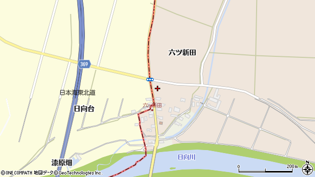 山形県酒田市宮内六ツ新田47周辺の地図
