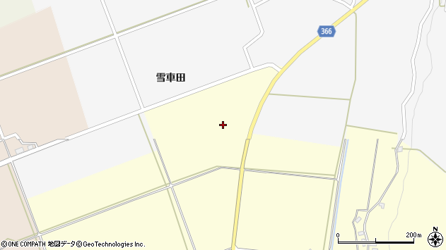 山形県酒田市麓雪車田8周辺の地図