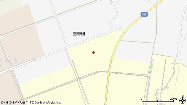 山形県酒田市福山雪車田8周辺の地図