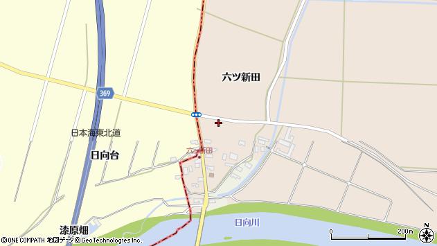 山形県酒田市宮内六ツ新田48周辺の地図