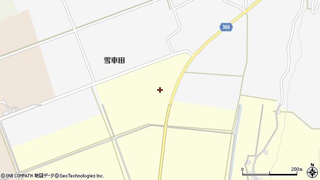 山形県酒田市麓雪車田6周辺の地図