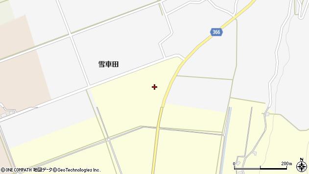 山形県酒田市麓雪車田周辺の地図