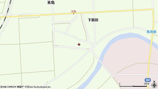 山形県酒田市米島上広面22周辺の地図