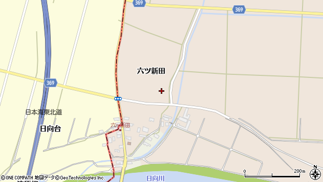 山形県酒田市宮内六ツ新田39周辺の地図