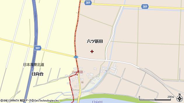 山形県酒田市宮内六ツ新田周辺の地図