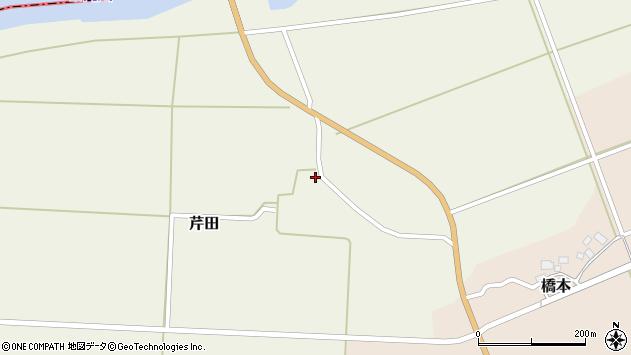 山形県酒田市芹田北田70周辺の地図