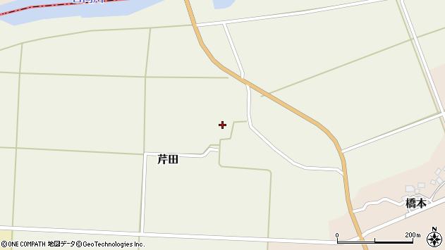 山形県酒田市芹田腰巻16周辺の地図